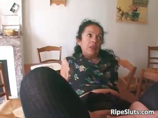 horny mature bitch double banged as one
