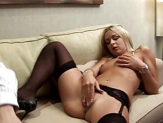 blond italian lady wills older  penis
