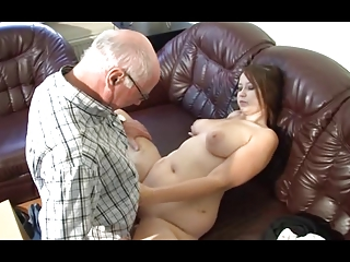 german grandpa makes inexperienced chick naughty