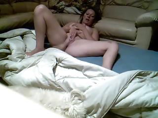 woman fisting on hidden cam