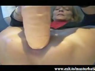 extreme anal masturbation of granny fiona