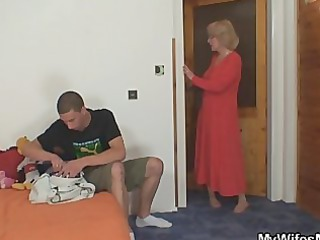 mom-in-law rides him and lady comes in