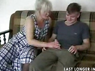 cougar albino into nylons copulates the guy part1