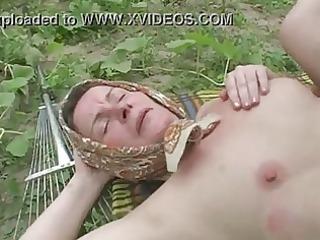 old anal outdoor banging