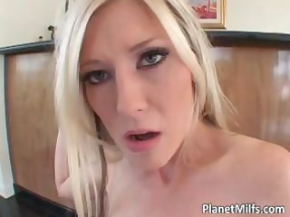 horny blond lady takes double penetrated part1