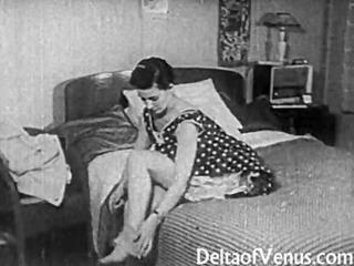 vintage sex 1950s - clean pussy, voyeur bang