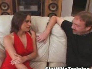 voyeur dude sends housewife to bitch training
