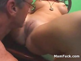 old man doggy gangbangs bum cougar chick as