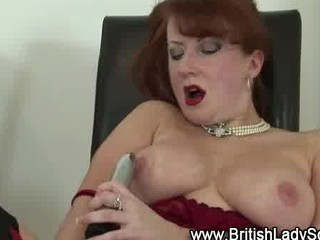 grownup redhaired inside nylons takes off