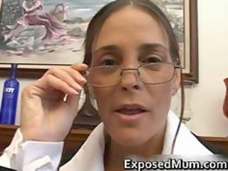 shocking milf inside glasses deepthroating black