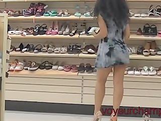 my woman panty & shoe shopping upskirt!