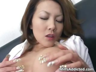 busty eastern  mature babe touches her juicy cave